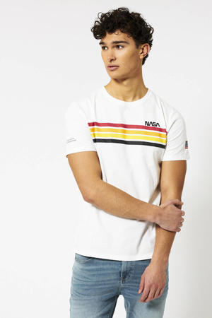 T-shirt NASA met printopdruk ecru