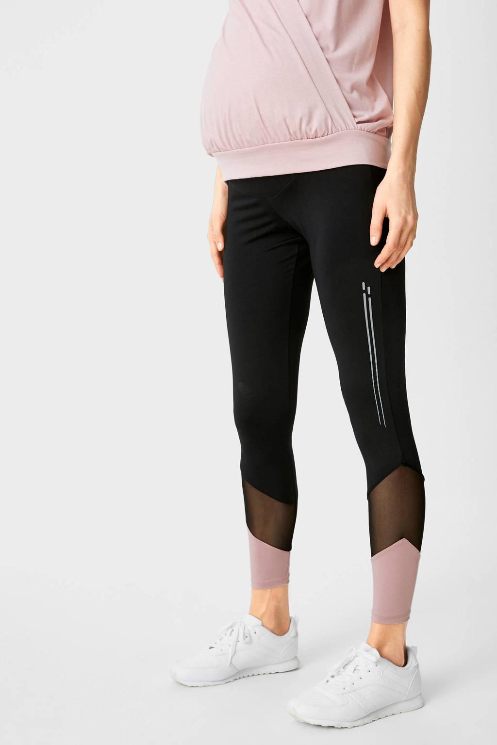 C&A Yessica zwangerschapslegging zwart/roze, Zwart/roze