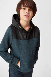 C&A hoodie petrol/zwart, Petrol/zwart