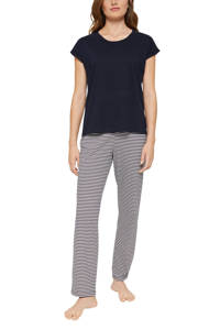 ESPRIT Women Bodywear pyjama met strepen donkerblauw/wit, Donkerblauw/wit