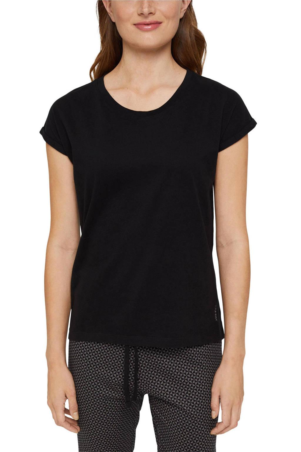 ESPRIT Women Bodywear pyjamatop zwart, Zwart
