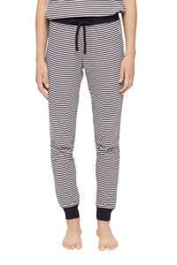 ESPRIT Women Bodywear gestreepte pyjamabroek donkerblauw/wit, Donkerblauw/wit
