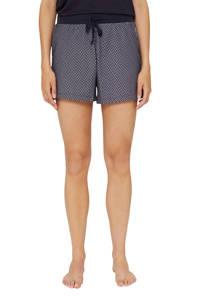 ESPRIT Women Bodywear pyjamashort met all over print donkerblauw/wit, Donkerblauw
