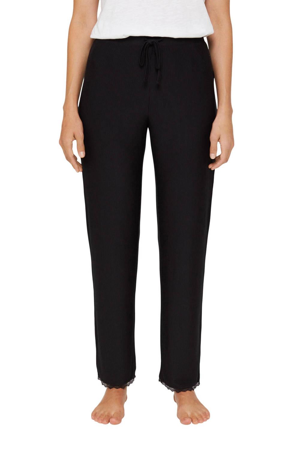 ESPRIT Women Bodywear pyjamabroek zwart, Zwart