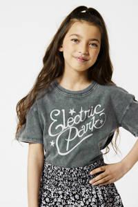 America Today Junior T-shirt van biologisch katoen washed grey, Washed grey
