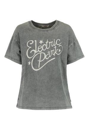 T-shirt van biologisch katoen washed grey