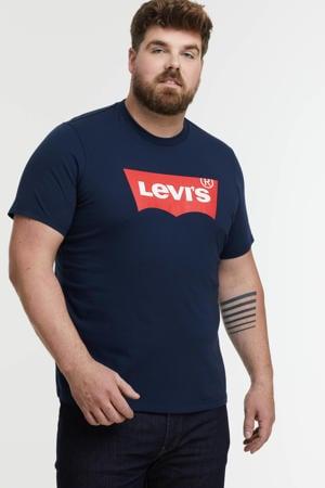 T-shirt Plus Size met logo donkerblauw