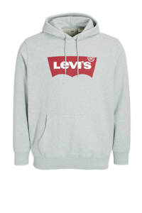 Levi's Big and Tall sweater Plus Size met logo grijs, Grijs