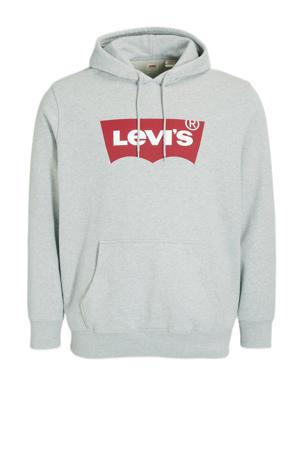 sweater Plus Size met logo grijs