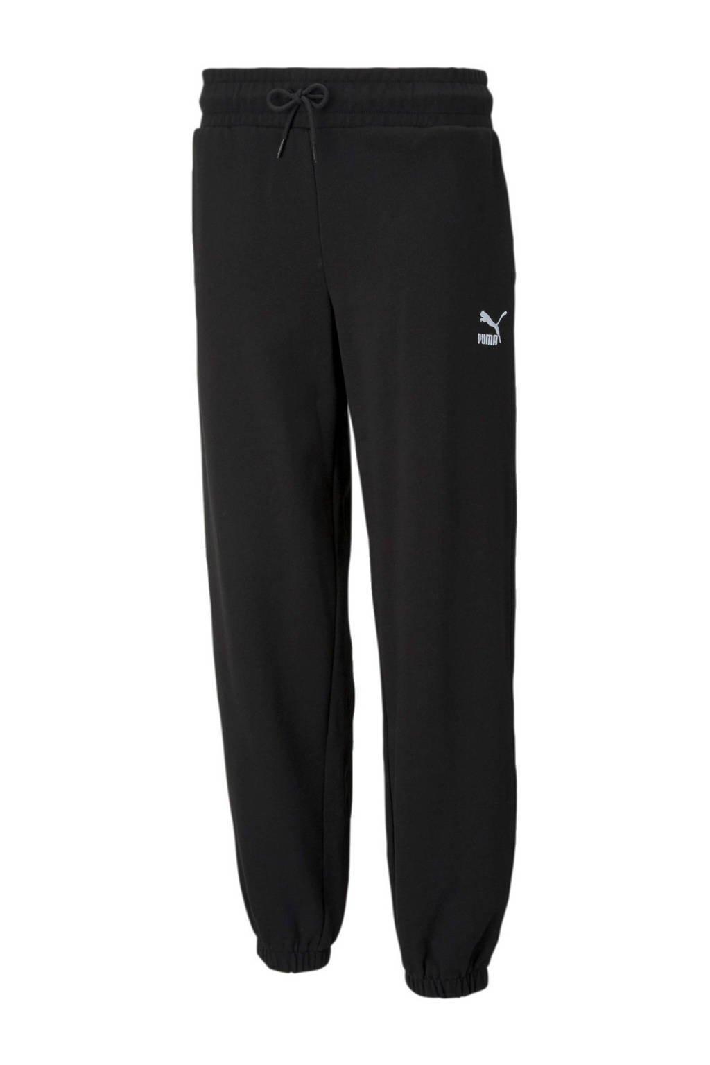 Puma regular fit broek zwart, Zwart