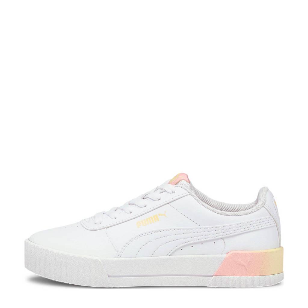 Puma Carina Summer Fade Jr  sneakers wit/geel/roze, Wit/geel/roze