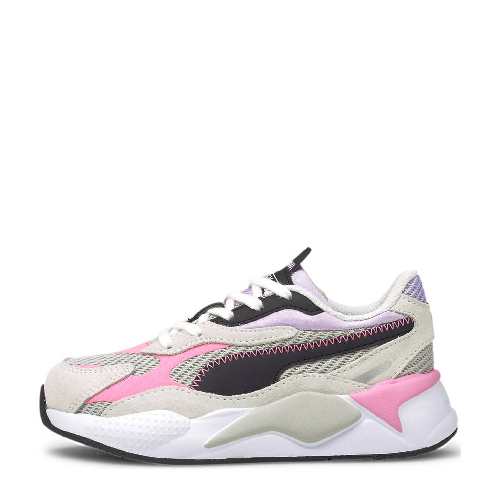 Puma RS-X³ Twill AirMesh PS  sneakers grijs/violet/wit