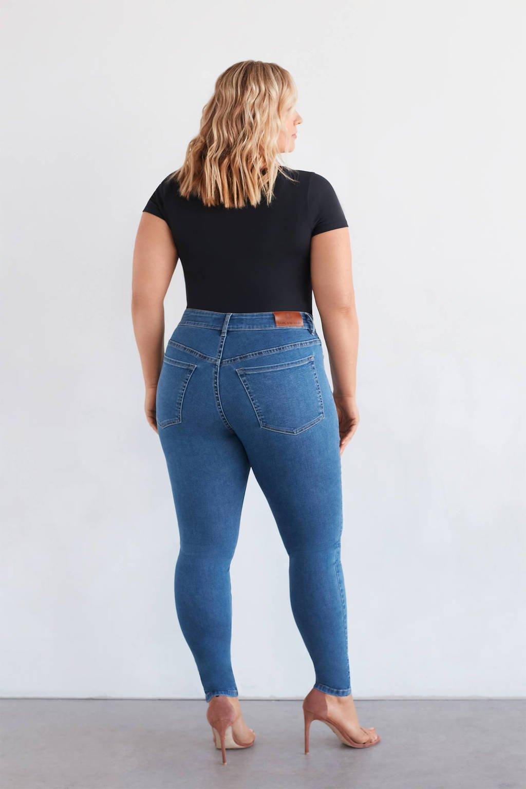 Fox Factor high waist skinny jeans NIKI magic blue, Magic Blue