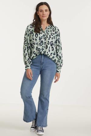 high waist flared jeans BOBI heaven blue