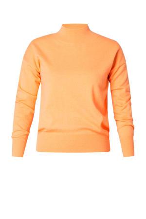 fijngebreide trui Rixt oranje