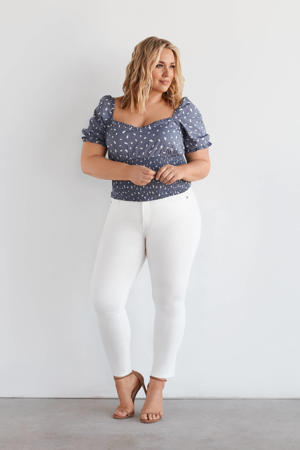 high waist slim fit jeans IRI star white
