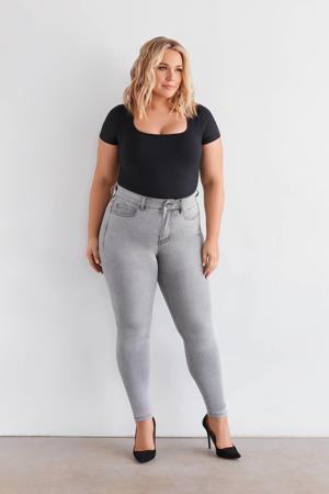 high waist skinny jeans NIKI moon grey