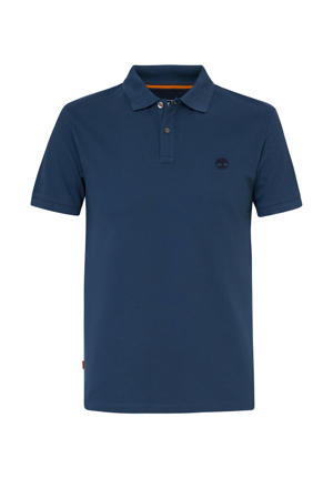 slim fit polo blauw