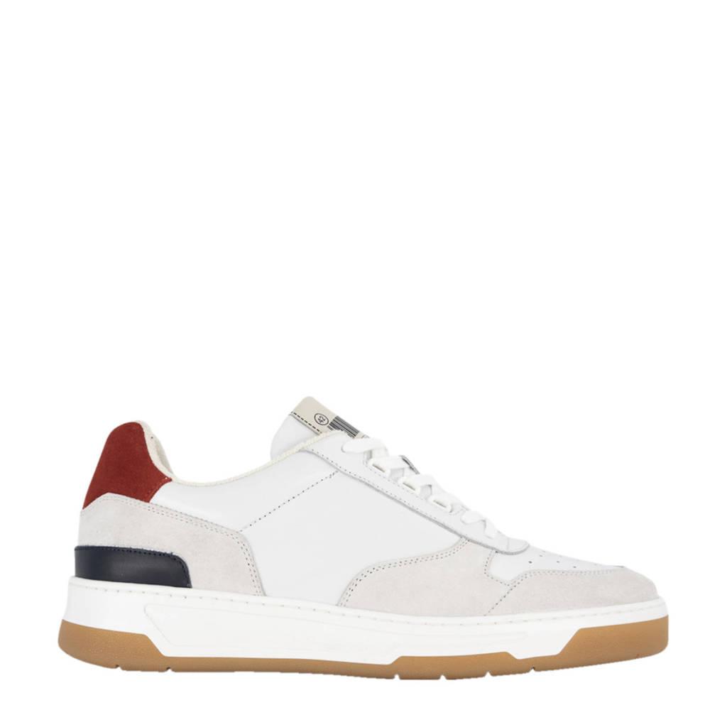 Oxmox   leren sneakers wit, Wit