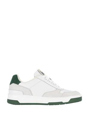 leren sneakers wit/groen