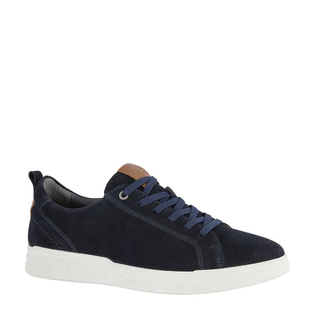 Gallus   suède sneakers donkerblauw, Donkerblauw