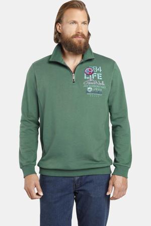 sweater STENKIL met 3D applicatie Plus Size groen