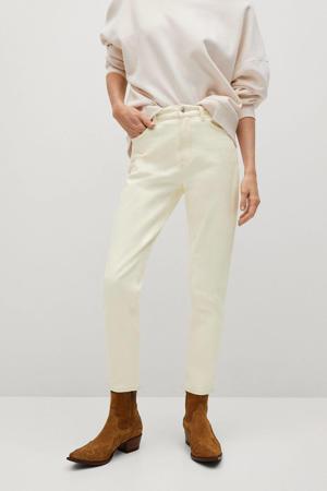 cropped high waist mom jeans gebroken wit