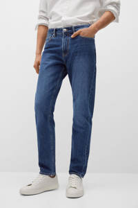 Mango Man straight fit jeans changeant blauw