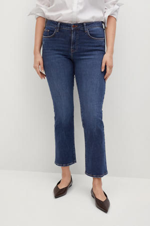 cropped bootcut jeans blue