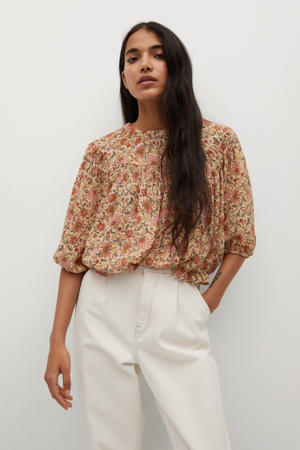 cropped high waist loose fit jeans lichtbeige