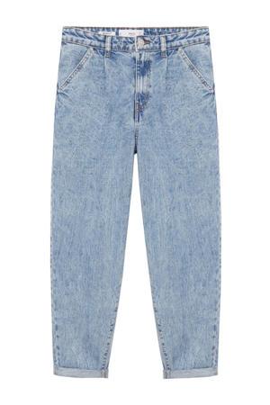 cropped high waist mom jeans light blue