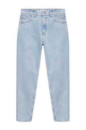 high waist mom jeans light blue