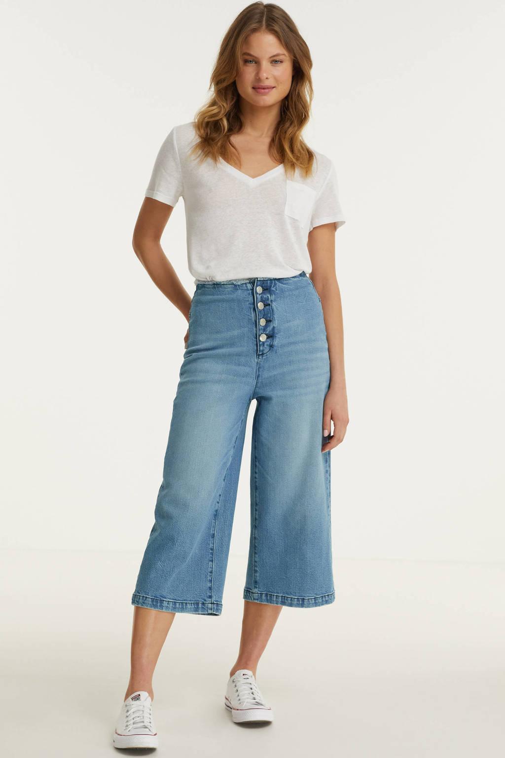 anytime culotte high waist jeans light denim, Light denim