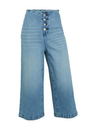 culotte high waist jeans light denim