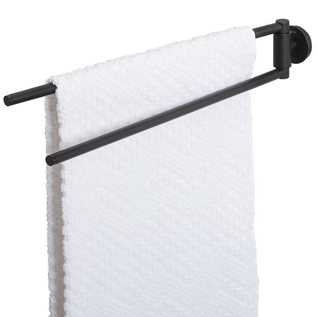 Tiger handdoekrek (5x45 cm), Zwart