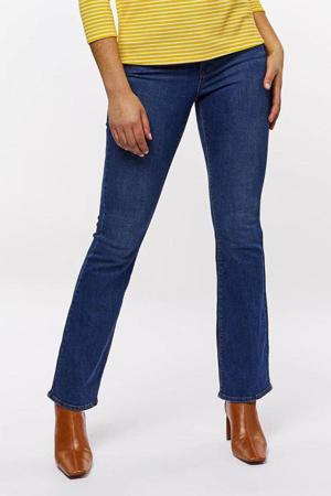 high waist bootcut jeans middenblauw