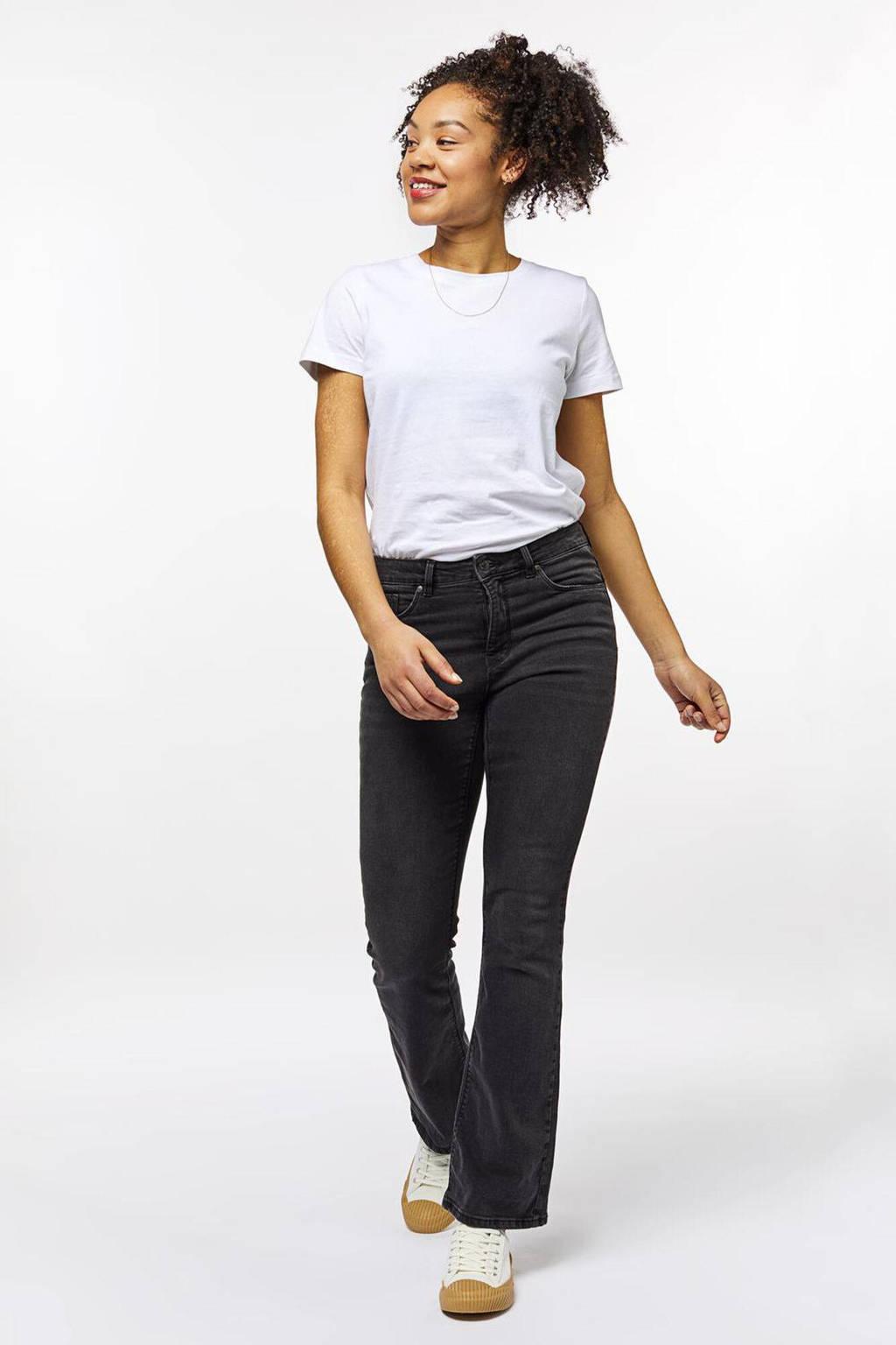 HEMA high waist bootcut jeans zwart, Zwart
