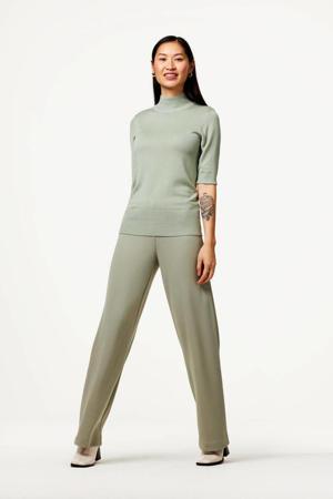 straight fit broek groen