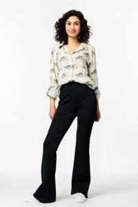 HEMA blouse met all over print ecru, Ecru