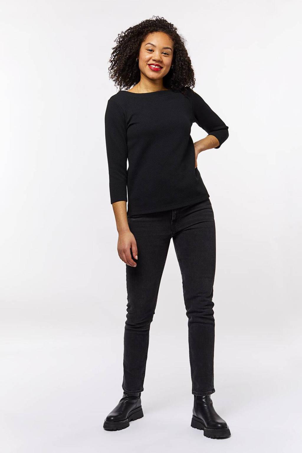 HEMA T-shirt zwart, Zwart