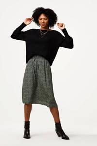 HEMA fijngebreide trui Lana zwart, Zwart