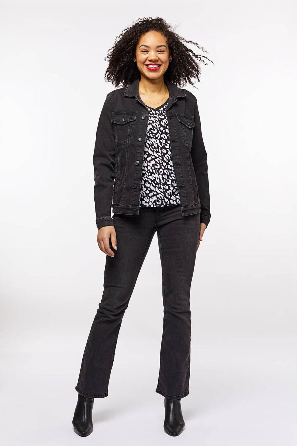 HEMA spijkerjasje Tamina zwart, Zwart