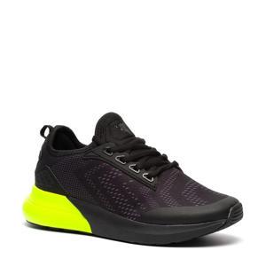 sportschoenen zwart/limegroen
