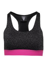 Scapino Osaga level 3 sportbh zwart/roze, Zwart/roze