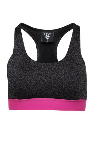 level 3 sportbh zwart/roze