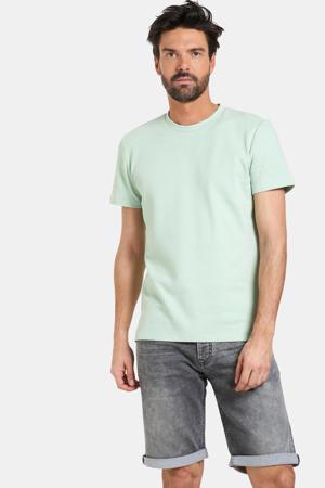 T-shirt Tabor met textuur lichtgroen