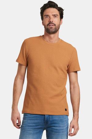 T-shirt Terry met textuur lichtbruin