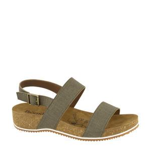 comfort sandalen groen