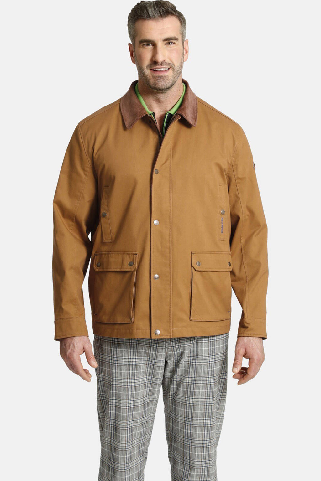 Charles Colby tussenjas Plus Size lichtbruin, Lichtbruin