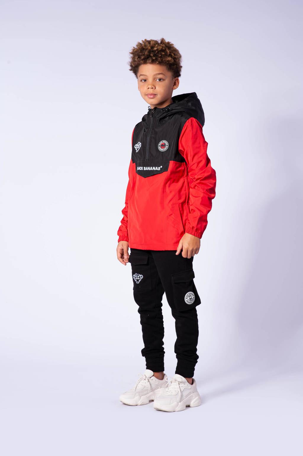 BLACK BANANAS unisex  zomerjas rood/zwart, Rood/zwart